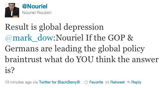 Roubini tweet - Sep. 22 2011